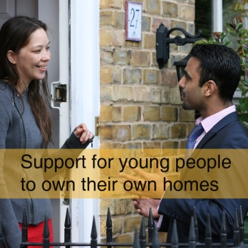 Support for young people to own their own homes